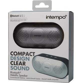 Intempo Bluetooth Metallic Front Speaker Silver