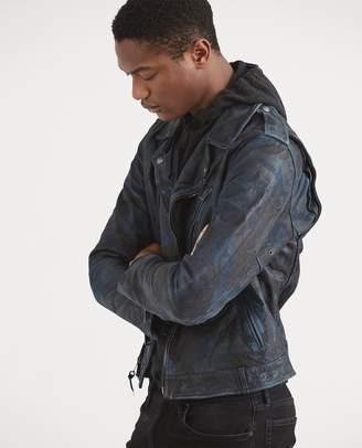 Ralph Lauren Camo Leather Biker Jacket