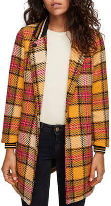 Scotch & Soda Plaid Bonded Wool Blend Jacket