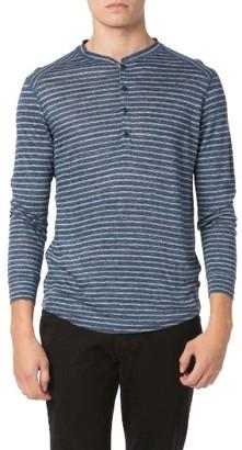 Men's Good Man Brand Stripe Linen Jersey Henley $128 thestylecure.com