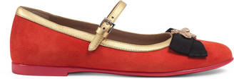 Children's suede ballet flat with bee $420 thestylecure.com
