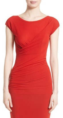 Women's Fuzzi Ruched Tulle Top $325 thestylecure.com