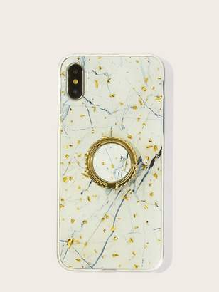 eb0a16059a Shein Marble Pattern iPhone Case With Phone Holder 2pcs