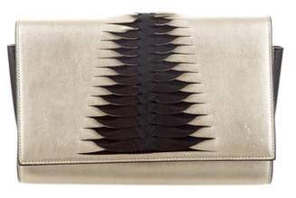 Christian Louboutin Metallic Paloma Clutch