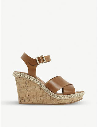 d02487e8d1d6 Wedge Stud Ankle Strap Heels - ShopStyle UK