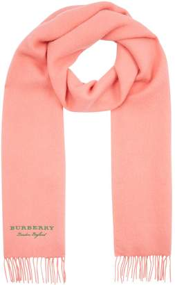 Burberry Embroidered Fleece Scarf