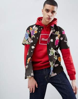 HUF Botanica Floral Shirt In Black