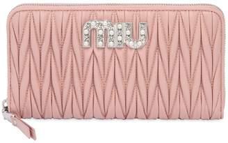 Miu Miu Quilted Leather Zip Around Wallet