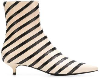 Sonia Rykiel striped ankle boots