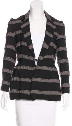 Lanvin Textured Striped Blazer