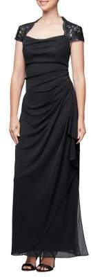Alex Evenings Petite Cap Sleeve Gown