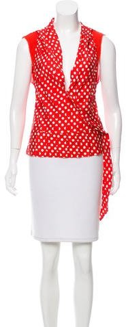 Marc by Marc Jacobs Polka Dot Printed Sleeveless Top