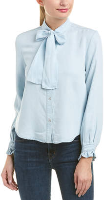 7 For All Mankind Seven 7 Bow Tie Denim Shirt