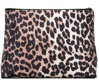 Ganni leopard print makeup bag