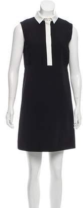 J. Mendel Silk Colorblock Dress