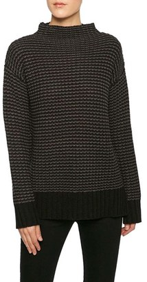 Women's Sanctuary Mason Stripe Funnel Neck Sweater $79 thestylecure.com