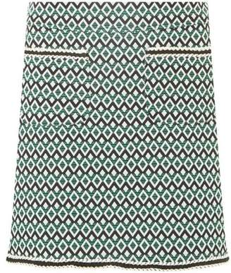 Dorothy Perkins Womens Green Geometric Print Pocket Mini Skirt