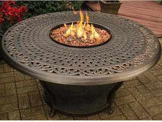 tk.TAKEO KIKUCHI Classics Charleston Aluminum Gas Fire Pit Table
