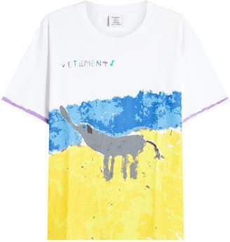 Vetements Elephant Elinor Printed Cotton T-Shirt