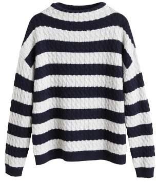 MANGO Striped 100% cashmere sweater