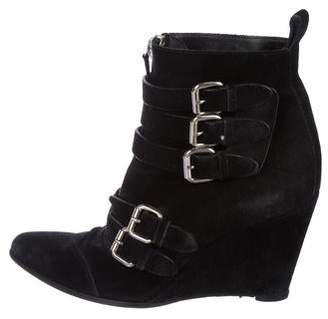 Tabitha Simmons Suede Wedge Boots