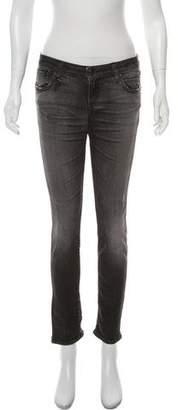 R 13 Mid-Rise Straight Leg Jeans