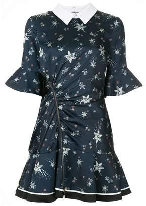 Self-Portrait Shooting Star zipped mini dress