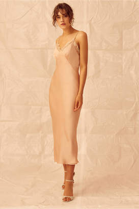 Keepsake DON'T GO MIDI DRESS nude