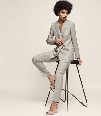 Reiss ORDER BY MIDNIGHT DEC 15TH FOR CHRISTMAS DELIVERY PIXIE TROUSER PINSTRIPE STRAIGHT-LEG TROUSERS Grey