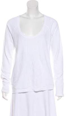 James Perse Scoop Neck Long Sleeve Top