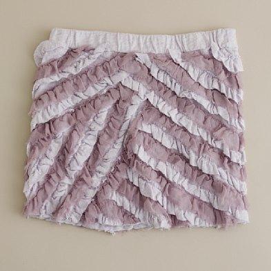 Girls' cotton pattycake skirt