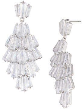 Carolee Blushing Bride Crystal Chandelier Earrings