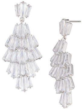 Carolee Blushing Bride Crystal Chandelier Earrings