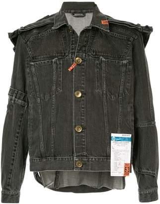 Puma Maison Yasuhiro shoulder-patch denim jacket