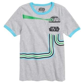 Mighty Fine Star Wars Death Star Pocket T-Shirt