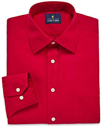 STAFFORD Stafford Executive Non-Iron Cotton Pinpoint Oxford- Big & Tall Long Sleeve Dress Shirt