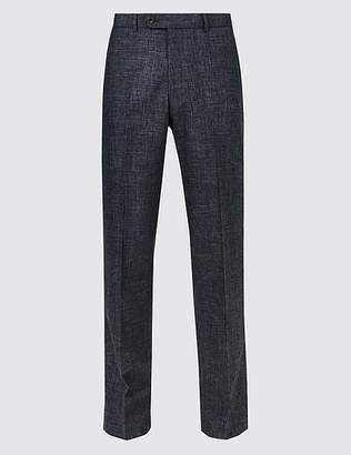 Marks and Spencer Linen Miracle Regular Fit Trousers