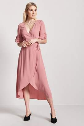 Forever 21 Ruffle Wrap-Front Dress