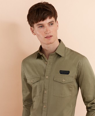 Brooks Brothers Cotton Twill Patch Sport Shirt