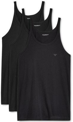 Emporio Armani Men's 3-Pack Underwear Tank Tops $49 thestylecure.com