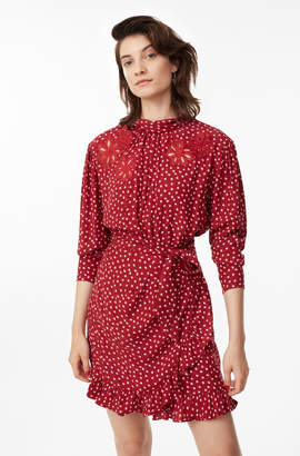Rebecca Taylor Blurry Heart Silk Embroidered Dress