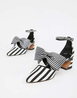 Asos DESIGN Statue bow mid heels