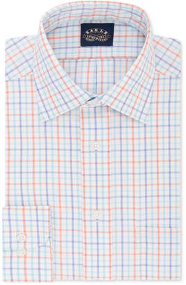 Eagle Men's Big and Tall Classic/Regular Fit Non-Iron Flex Collar Blue Multi Gingham Dress Shirt