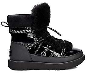 UGG Women's Highland Fur Trimmed Waterproof Boots