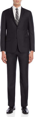 Hickey Freeman Two-Piece Charcoal Wool Suit
