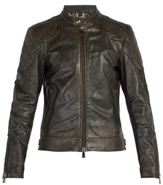 Belstaff Outlaw Leather Jacket - Mens - Black