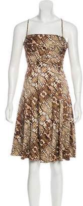 Just Cavalli Sleeveless Knee-Length Dress