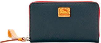 Dooney & Bourke Patterson Leather Zip Around Phone Wristlet