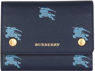 Burberry Leather Equestrian Knight Wallet