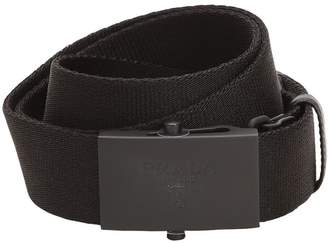 Prada 35mm Embossed Logo Nylon Webbing Belt